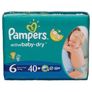 Pampers, Active Baby-Dry, Pieluszki Extra Large (15+ kg) marki Pampers - zdjęcie nr 1 - Bangla