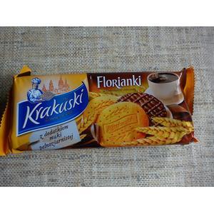 Florianki w czekoladzie mlecznej z dodatkiem mąki pełnoziarnistej marki Krakuski - zdjęcie nr 1 - Bangla