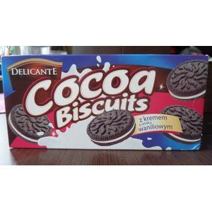 Delicante, Cocoa biscuits z kremem o smaku waniliowym marki PoloMarket - zdjęcie nr 1 - Bangla