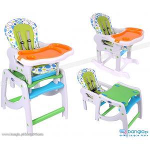 Krzesełko - stolik do karmienia 3 w 1 z bujaniem marki Kinder Prince - zdjęcie nr 1 - Bangla