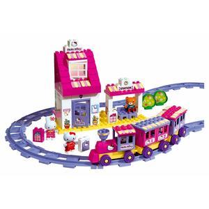 Pociąg Hello Kitty, zestaw klocków marki Simba - zdjęcie nr 1 - Bangla