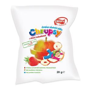 Crispy Natural Chrupsy Jabłkowe z sokiem truskawkowym marki FPH PAULA Sp. z o. o. Sp. k. - zdjęcie nr 1 - Bangla