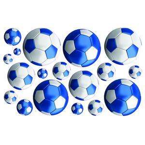 FunToSee, Naklejki do dekoracji - Piłka nożna niebieska marki FunToSee - zdjęcie nr 1 - Bangla