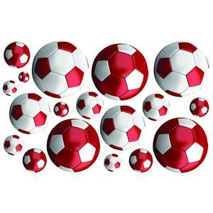 FunToSee, Naklejki do dekoracji - Piłka nożna czerwona marki FunToSee - zdjęcie nr 1 - Bangla