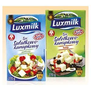 Luxmilk, Ser sałatkowo-kanapkowy, różne rodzaje marki Biedronka - zdjęcie nr 1 - Bangla