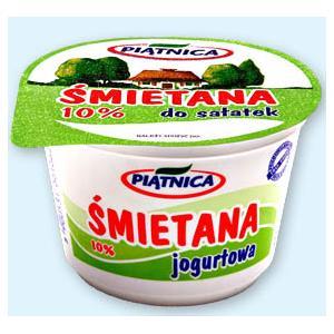 Śmietana 10% jogurtowa do sałatek i zup marki Piątnica - zdjęcie nr 1 - Bangla