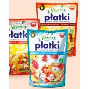 Vitanella, płatki z ryżu i pełnego przemiału pszenicy, różne smaki marki Biedronka - zdjęcie nr 1 - Bangla