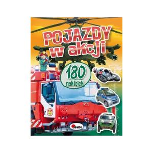 Pojazdy w Akcji, Książeczka z naklejkami marki Wydawnictwo AWM - zdjęcie nr 1 - Bangla
