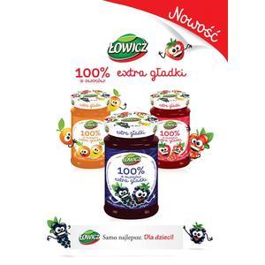 Dżem 100% z owoców extra gładki, różne smaki marki Łowicz - zdjęcie nr 1 - Bangla
