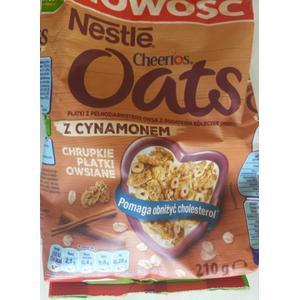 Cheerios Oats, Płatki z pełnoziarnistego owsa z dodatkiem kółeczek Cheerios z cynamonem marki Kaszki Nestlé - zdjęcie nr 1 - Bangla