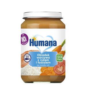 Humana, Obiadek warzywa z ryżem i łososiem (100% Organic) marki Humana - zdjęcie nr 1 - Bangla