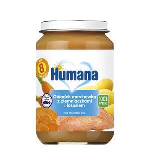 Humana, Obiadek marchewka z ziemniaczkami i łososiem (100% Organic) marki Humana - zdjęcie nr 1 - Bangla
