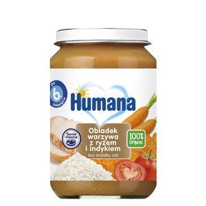 Humana, Obiadek warzywa z ryżem i indykiem (100% Organic) marki Humana - zdjęcie nr 1 - Bangla