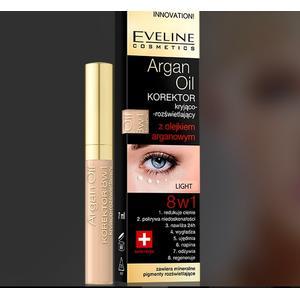 Argan Oil korektor kryjąco-rozświetlający z olejkiem arganowym 8 w 1 marki Eveline Cosmetics - zdjęcie nr 1 - Bangla
