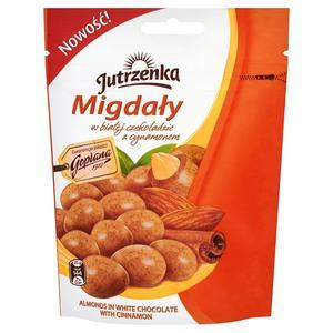 Migdały w białej czekoladzie z cynamonem marki Jutrzenka - zdjęcie nr 1 - Bangla