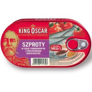 Szproty w sosie pomidorowym, różne rodzaje marki King Oscar - zdjęcie nr 1 - Bangla