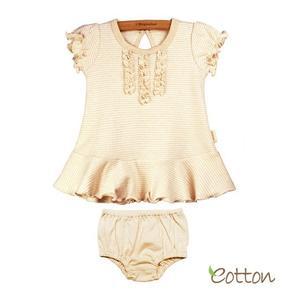 Komplet dziewczęcy: sukienka i majteczki Eotton organic cotton marki Inter M - zdjęcie nr 1 - Bangla