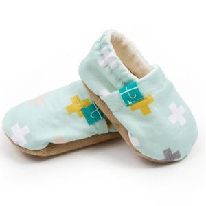 Swiss Cross Mint, Kapcie dla dziecka marki TITOT Baby Fashion - zdjęcie nr 1 - Bangla
