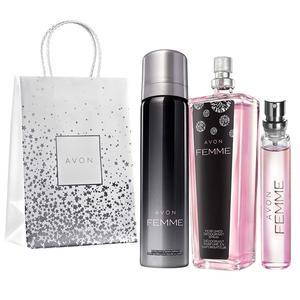 Femme zestaw, dezodorant, spray oraz perfumetka marki Avon - zdjęcie nr 1 - Bangla