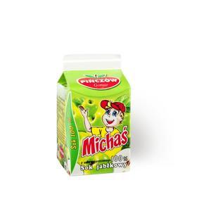 Michaś, sok jabłkowy w kartoniku z soku zagęszczonego 100 % marki Gomar Pińczów - zdjęcie nr 1 - Bangla