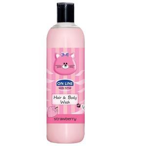 On Line Kids, Truskawkowy szampon i żel do mycia ciała marki Forte Sweden - zdjęcie nr 1 - Bangla