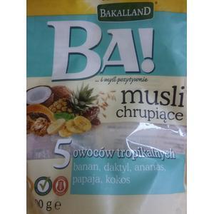 Ba! Musli chrupiące 5 owoców tropikalnych, musli marki Bakalland - zdjęcie nr 1 - Bangla