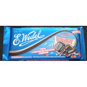 Wedel gorzka z cząstkami grejpfrutowymi i chrupkami, czekolada gorzka marki Wedel - zdjęcie nr 1 - Bangla
