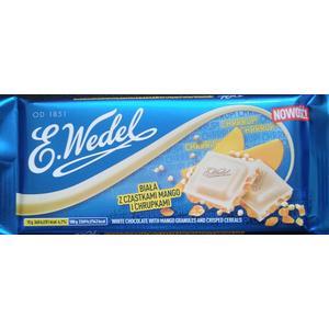 Wedel biała z cząstkami mango i chrupkami, czekolada biała marki Wedel - zdjęcie nr 1 - Bangla