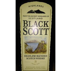 3 Years Old Blended Scotch Whisky, whisky marki Black Scott - zdjęcie nr 1 - Bangla