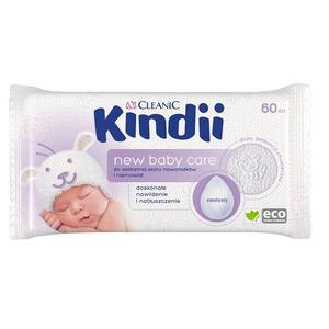 Cleanic Kindii, New Baby Care, chusteczki do delikatnej skóry noworodków i niemowląt, 60 szt., chusteczki nawilżone marki Harper Hygienics - zdjęcie nr 1 - Bangla
