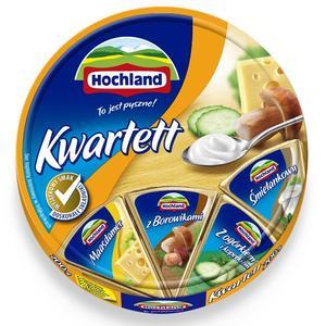 Hochland, Ser topiony Kwartett w krążku marki Hochland Polska Sp z o. o - zdjęcie nr 1 - Bangla