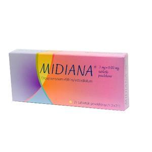 Midiana, Tabletki antykoncepcyjne marki Gedeon Richter - zdjęcie nr 1 - Bangla