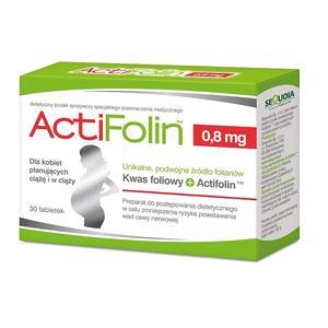 ActiFolin 0,8 mg, Kwas foliowy dla kobiet planujących ciążę i w ciąży marki Sequoia - zdjęcie nr 1 - Bangla