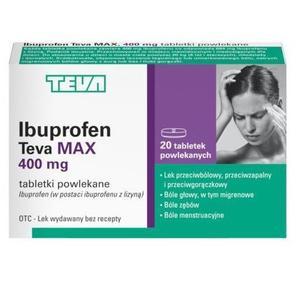 Ibuprofen Max, Tabletki przeciwbólowe powlekane marki Teva Kutno - zdjęcie nr 1 - Bangla