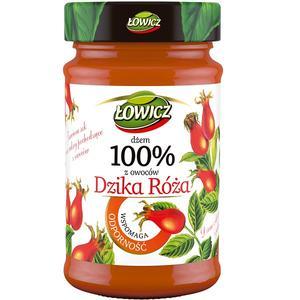 100% z owoców, Dżem Dzika róża (wspomaga odporność) marki Łowicz - zdjęcie nr 1 - Bangla