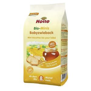 BIO, Pełnoziarniste mini sucharki z masłem i miodem marki Holle baby food GmbH - zdjęcie nr 1 - Bangla