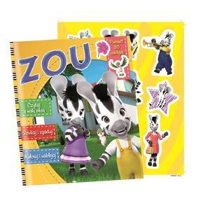 Zebra Zou, Zagadki, łamigłowki, kolorowanki (+ naklejki) marki Edipresse - zdjęcie nr 1 - Bangla