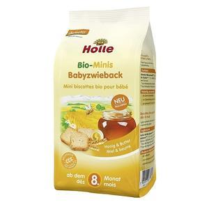 Holle, Pełnoziarniste mini sucharki z masłem i miodem BIO marki Holle - zdjęcie nr 1 - Bangla