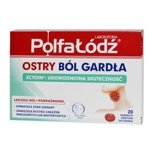 Ostry ból gardła, Pastylki do ssania marki Polfa Łódź - zdjęcie nr 1 - Bangla