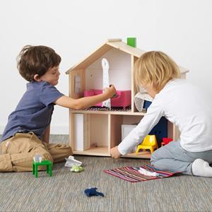 Ikea, Drewniany domek dla lalek marki IKEA - zdjęcie nr 1 - Bangla