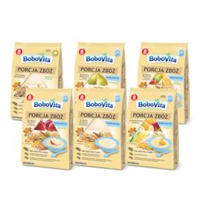 Porcja Zbóż, mleczne i bezmleczne kaszki, kaszki o różnych smakach marki BoboVita - zdjęcie nr 1 - Bangla