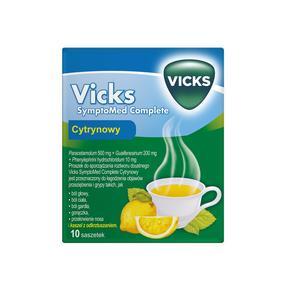 Vicks SymptoMed Complete Cytrynowy, lek na przeziębienie  marki Teva Pharmaceuticals Polska Sp. z o.o. - zdjęcie nr 1 - Bangla