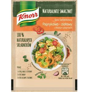 Naturalnie smacznie!, Sos sałatkowy Paprykowo-ziołowy z białym pieprzem marki Knorr - zdjęcie nr 1 - Bangla