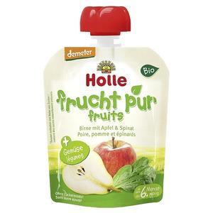 Holle, Mus z gruszki z jabłkiem i szpinakiem  marki Holle - zdjęcie nr 1 - Bangla
