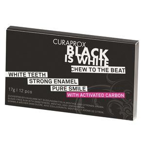 Black is White, Wybielająca guma do żucia marki Curaprox - zdjęcie nr 1 - Bangla
