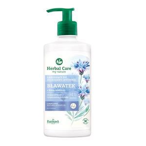 Herbal Care, Łagodzący żel do higieny intymnej Bławatek + kwas mlekowy marki Farmona - zdjęcie nr 1 - Bangla