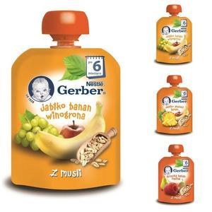 Gerber Z musli, Owocowy deserek w tubce - różne smaki marki Kaszki Nestlé - zdjęcie nr 1 - Bangla