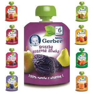 Gerber, 100% owoców z witaminą C, Owocowe musy w tubce - różne smaki marki Kaszki Nestlé - zdjęcie nr 1 - Bangla