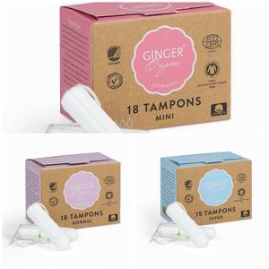 Ginger Organic, Organiczne tampony bez aplikatora marki Ginger Organic - zdjęcie nr 1 - Bangla