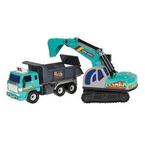 Smiki, Wywrotka z koparką Mega Dump&Shovel - zestaw marki Smyk - zdjęcie nr 1 - Bangla